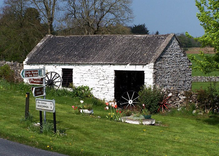 Ireland Greeting Card featuring the photograph Barn At Fuerty Church Roscommon Ireland by Teresa Mucha