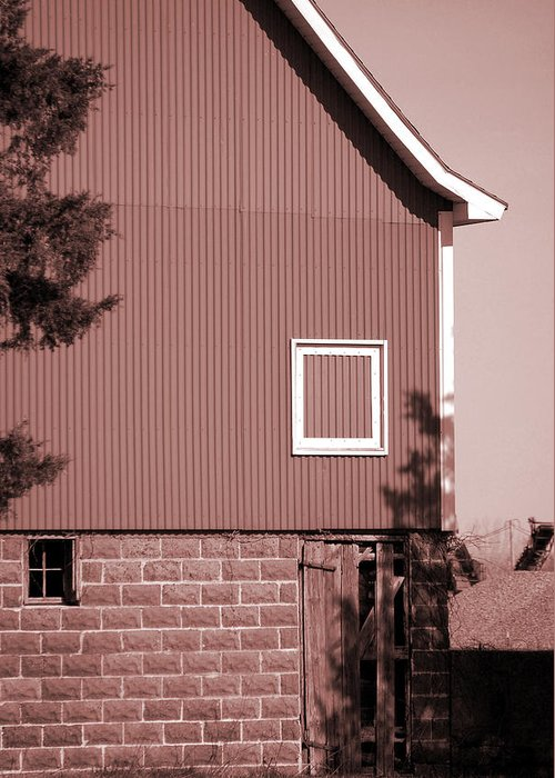 Barn Greeting Card featuring the photograph Barn Detail by Jame Hayes
