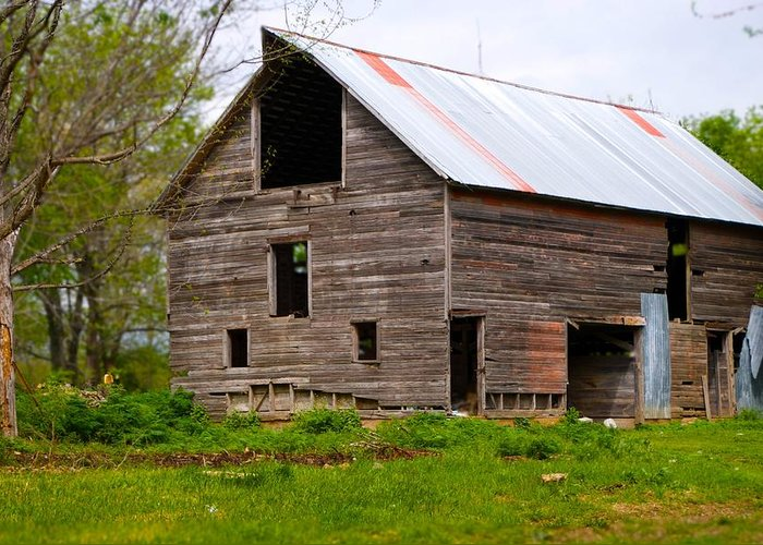 Old Barn Greeting Card featuring the photograph Barn in 3D by Toni Berry