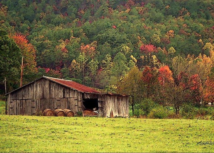 Barn Greeting Card featuring the photograph Barn North Carolina 1994 by Michelle Wiarda