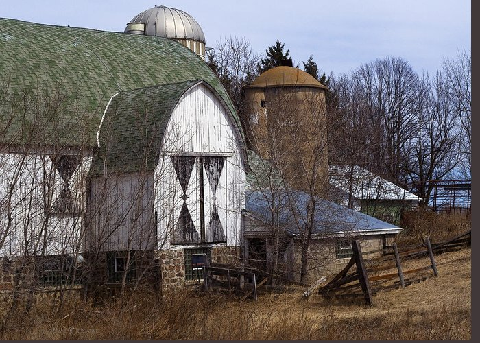 Barn Greeting Card featuring the photograph Barn On 29 by Tim Nyberg