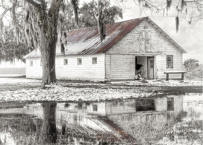 Landscape Greeting Card featuring the photograph Barn Reflection by Scott Hansen