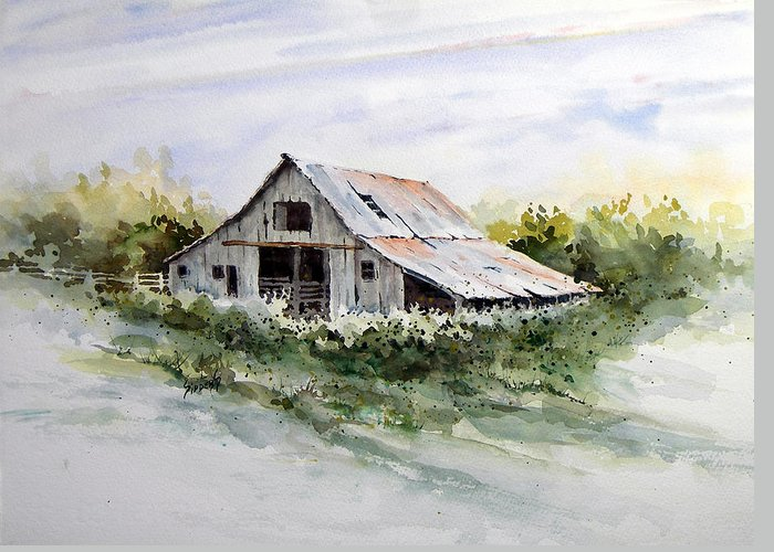 Farm Greeting Card featuring the painting Barn by Sam Sidders