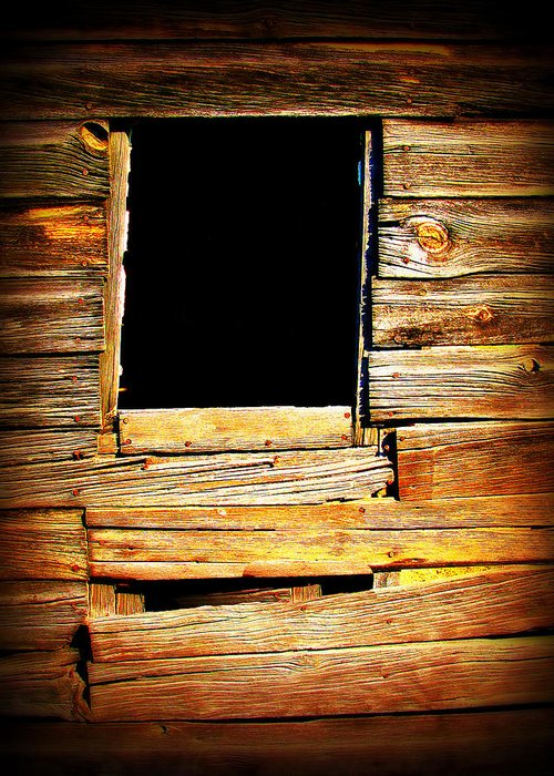 Barn Greeting Card featuring the photograph Barn Window by Perry Webster