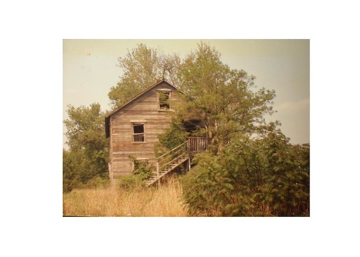 Country Greeting Card featuring the photograph Barn Wood Homestead by Hal Newhouser