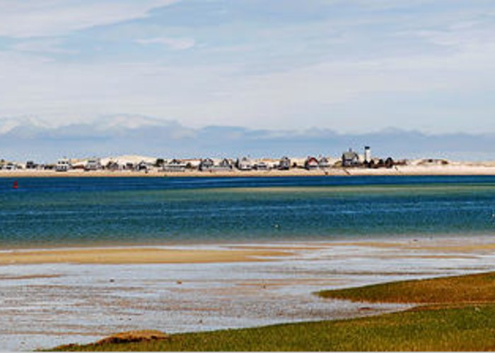 Barnstable Greeting Card featuring the photograph Barnstable Harbor Panorama by Charles Harden