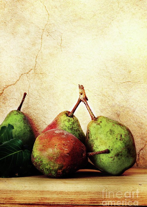 Pear Greeting Card featuring the photograph Bartlett Pears by Stephanie Frey