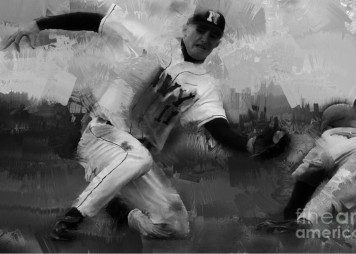 Chase Utley Paintings Greeting Cards