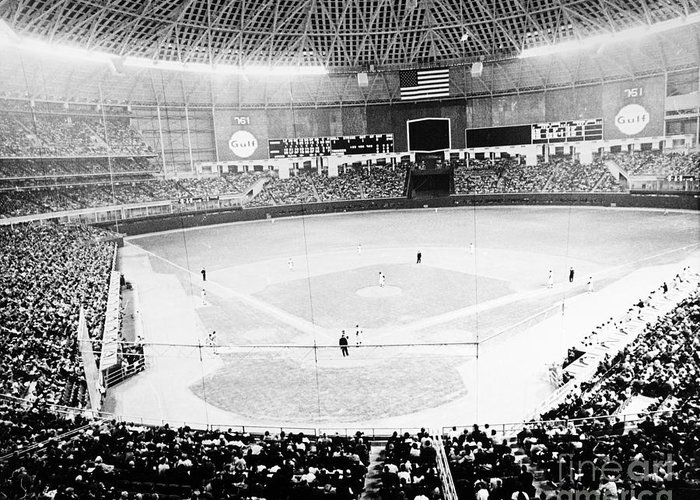 1965 Greeting Card featuring the photograph Baseball: Astrodome, 1965 by Granger