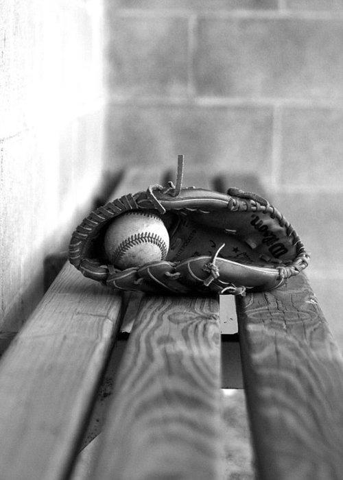 Photograph Greeting Card featuring the photograph Baseball Still Life by Susan Schumann