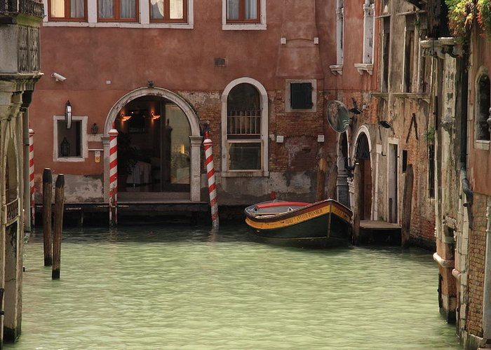 Venice Greeting Card featuring the photograph Basin In Venice by Michael Henderson