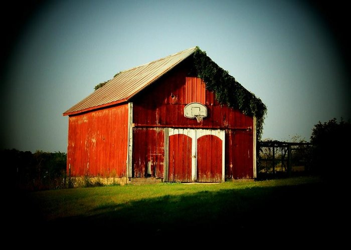 Barn Greeting Card featuring the photograph Basketball Barn by Michael L Kimble