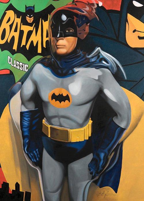 Batman Paintings Greeting Cards