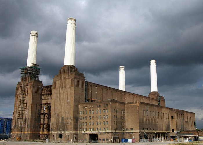 Battersea Power Station Greeting Card featuring the photograph Battersea Power Station, London, Uk by Johnny Greig