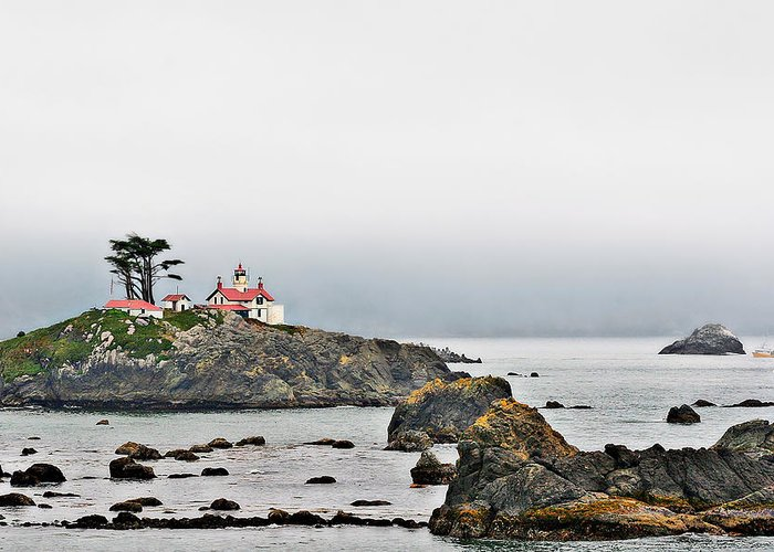 Battery Point Lighthouse Greeting Card featuring the photograph Battery Point Lighthouse California by Christine Till