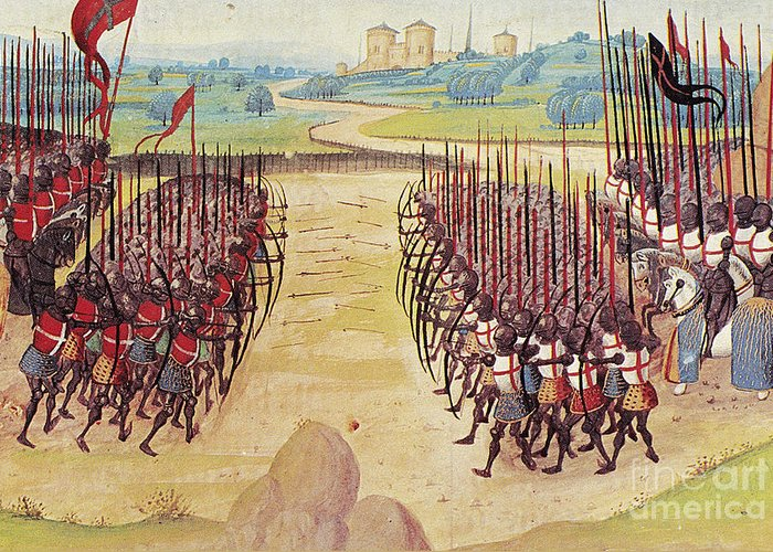 1415 Greeting Card featuring the photograph Battle Of Agincourt, 1415 by Granger