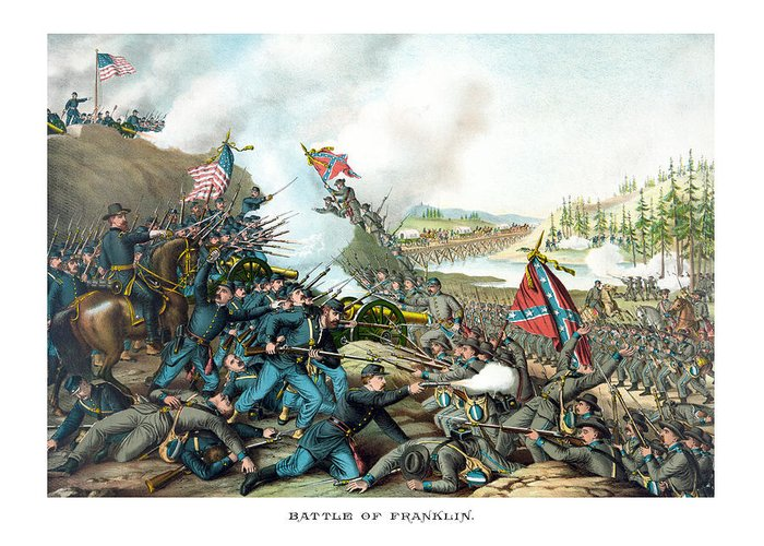 Battle Of Franklin Greeting Cards