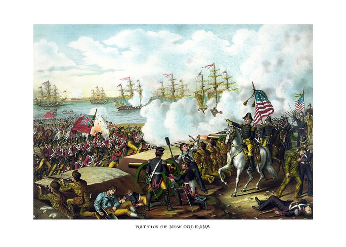 Battle Of New Orleans Greeting Cards