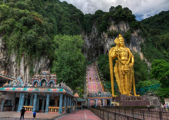 272 Greeting Card featuring the photograph Batu Caves by Adrian Evans