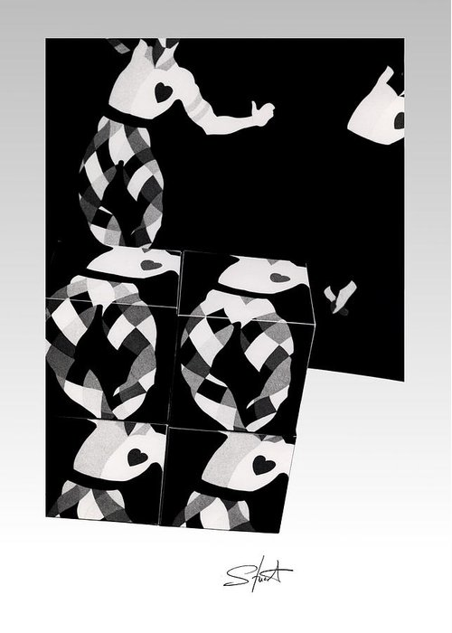 Dance Greeting Card featuring the photograph Bauhaus Ballet 2 The Cubist Harlequin by Charles Stuart