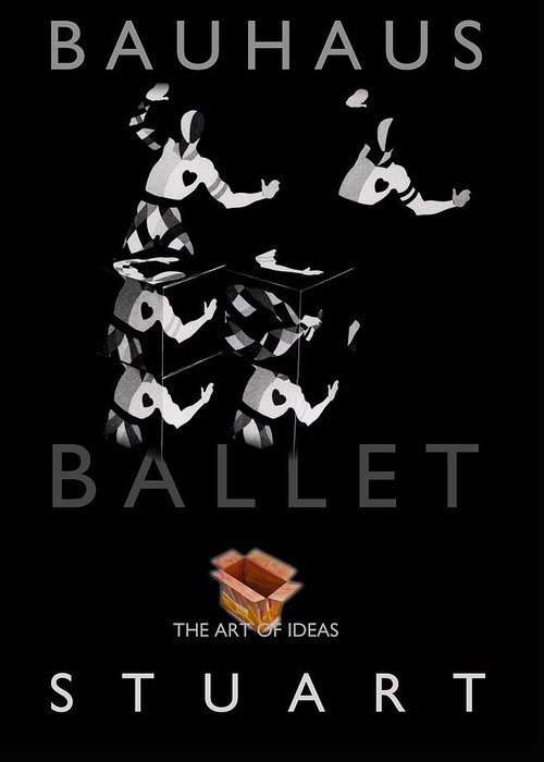 Bauhaus Greeting Card featuring the photograph Bauhaus Ballet Black by Charles Stuart