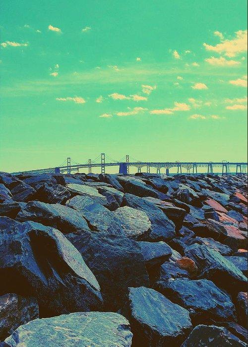 Chesapeake Greeting Card featuring the photograph Bay Bridge by Paul Kercher