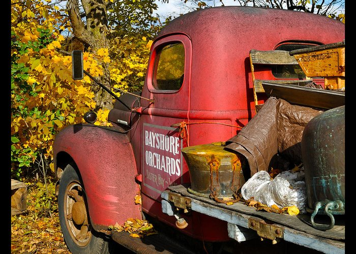 Truck Greeting Card featuring the photograph Bayshore Orchards by Tim Nyberg