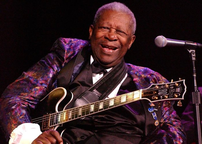 Bb King Greeting Card featuring the photograph Bb King 2008 by Bob Guthridge