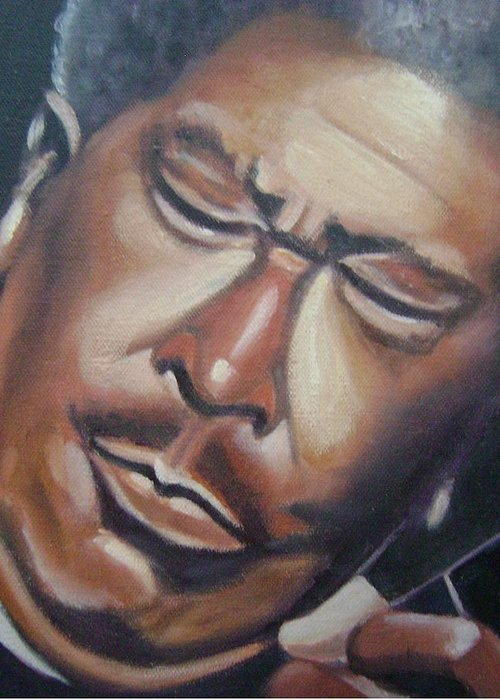 B.b. King Greeting Card featuring the painting B.b. King by Toni Berry