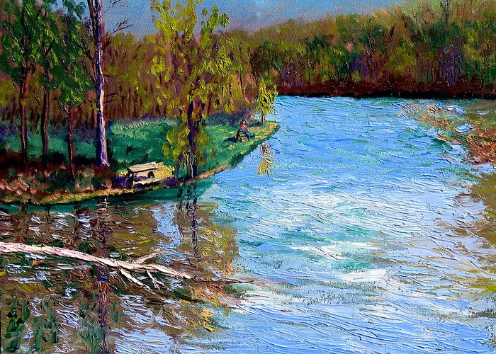 Plein Air Greeting Card featuring the painting Bcsp4 26 by Stan Hamilton