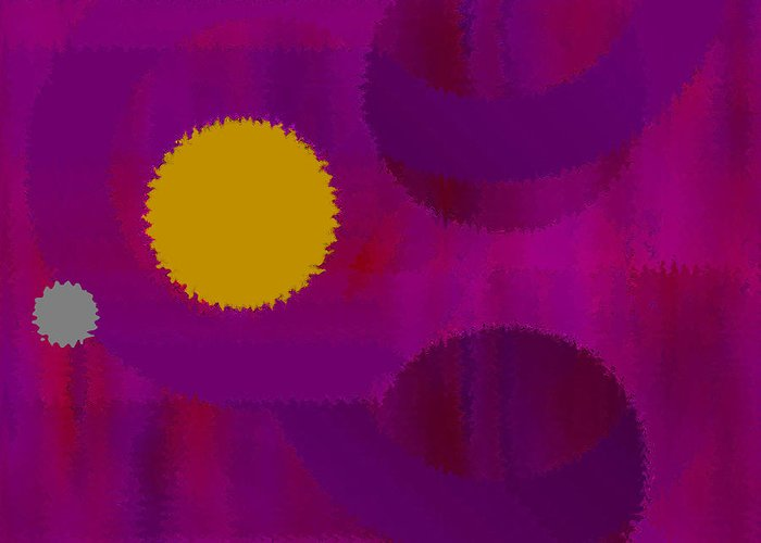 Abstract Greeting Card featuring the digital art Be Happy by Ruth Palmer