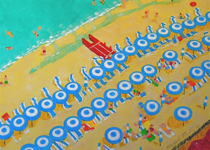 Beach Art Greeting Card featuring the painting Beach At Sorrento by Art Mantia