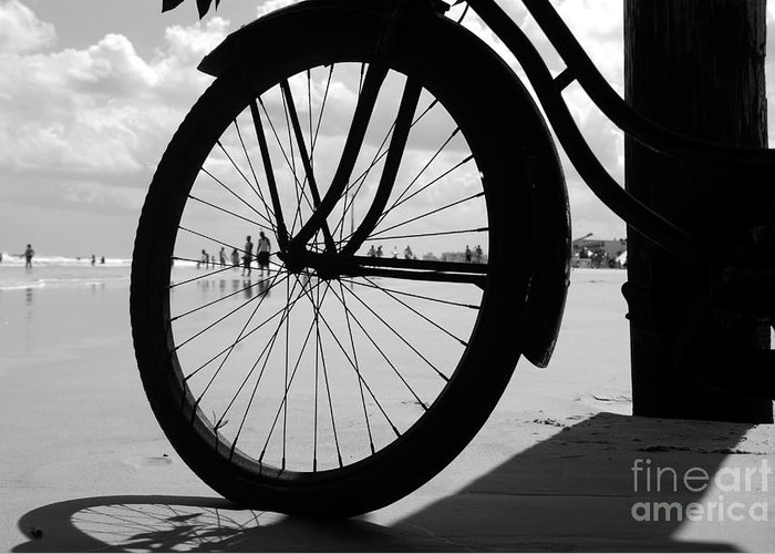 Beach Greeting Card featuring the photograph Beach Bicycle by David Lee Thompson