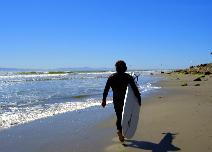 Sea Greeting Card featuring the photograph Beach Boy 1 by Robin Hernandez