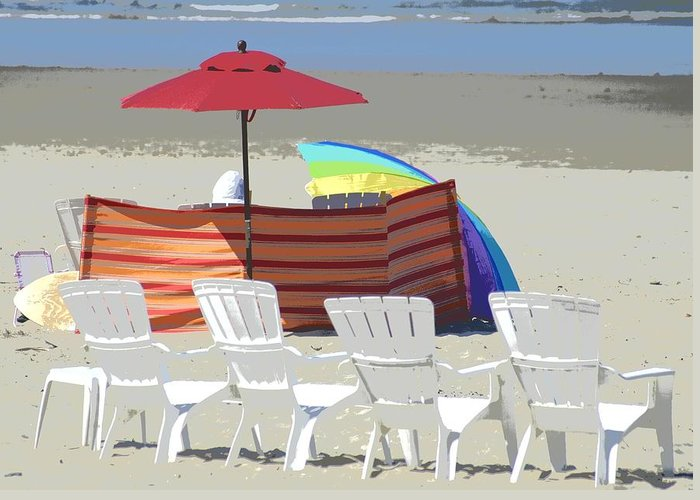 Chairs Greeting Card featuring the photograph Beach Chairs by Lori Seaman