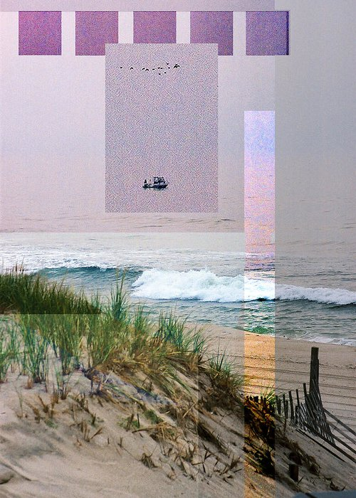 Landscape Greeting Card featuring the digital art Beach Collage 3 by Steve Karol