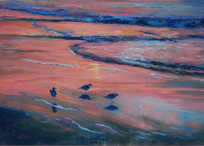 Beach Scenes Greeting Card featuring the painting Beach Combers by Billie Colson
