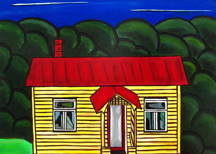 Cottage Greeting Card featuring the painting Beach Cottage by Sandra Marie Adams