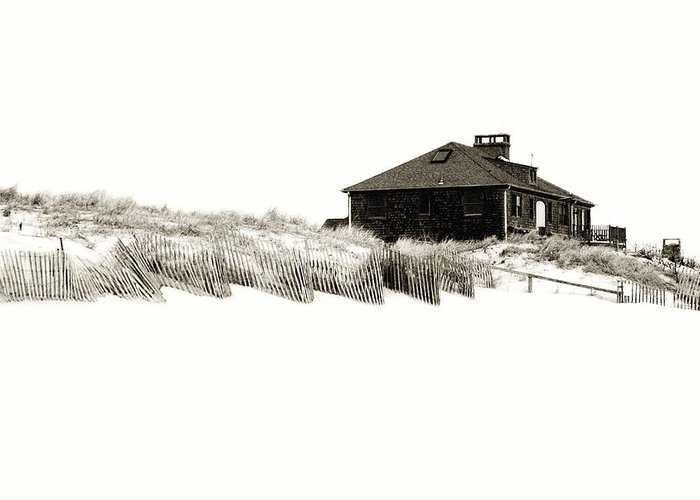 Beach House Greeting Card featuring the photograph Beach House - Jersey Shore by Angie Tirado