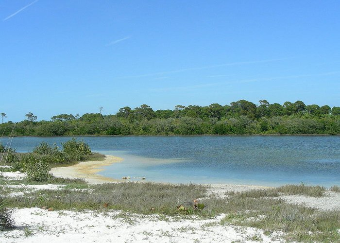 Lake Greeting Card featuring the photograph Beach Inland Lake by Peter McIntosh