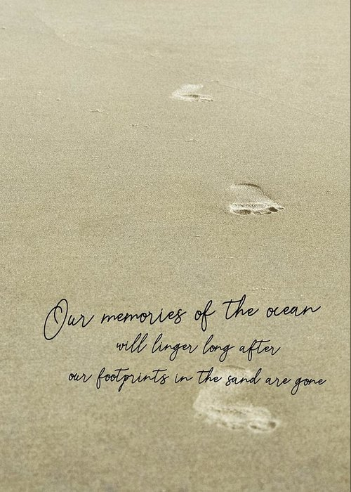Beach Greeting Card featuring the photograph Beach Jog Quote by JAMART Photography