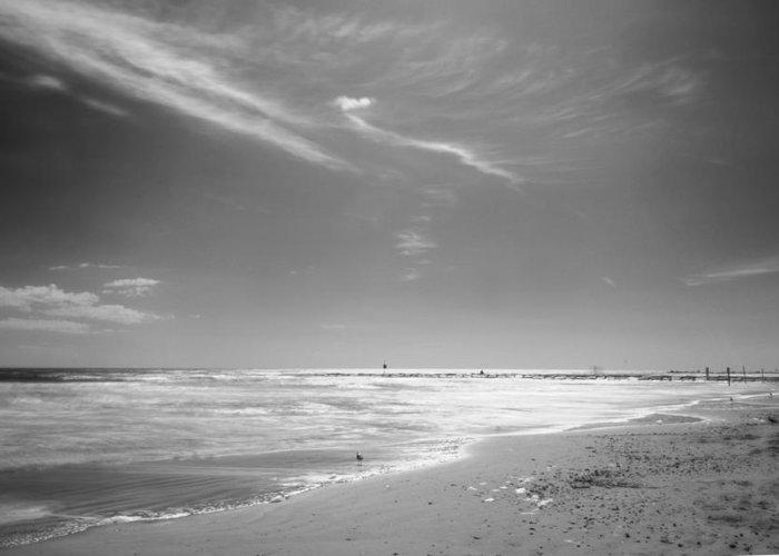 Galveston Greeting Card featuring the photograph Beach by John Gusky