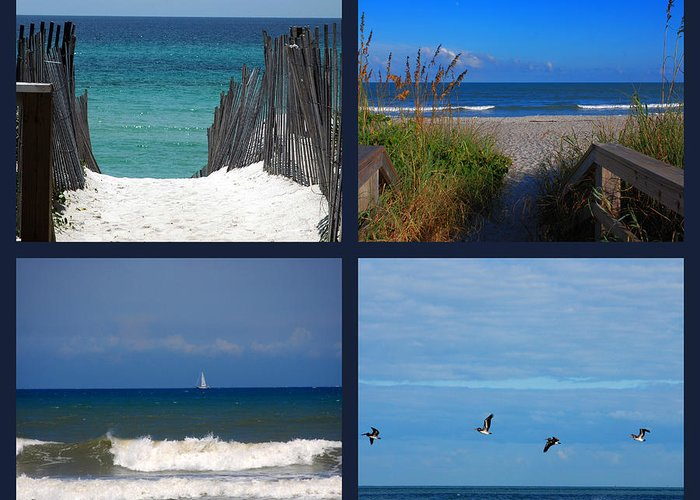 Beach Greeting Card featuring the photograph Beach Multiples by Susanne Van Hulst