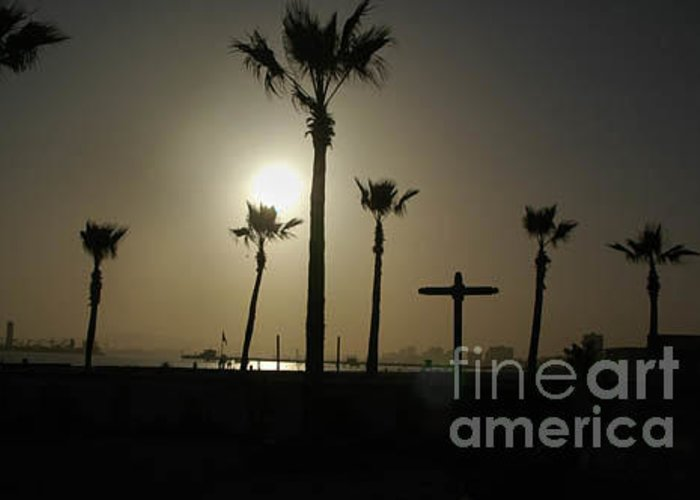 Scenic Greeting Card featuring the photograph Beach Of The Palm Tree Crosses by Michael Ziegler