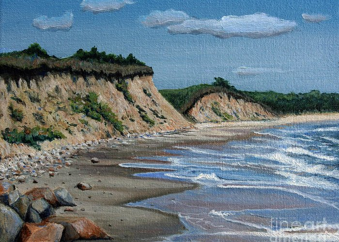 Beach Greeting Card featuring the painting Beach by Paul Walsh