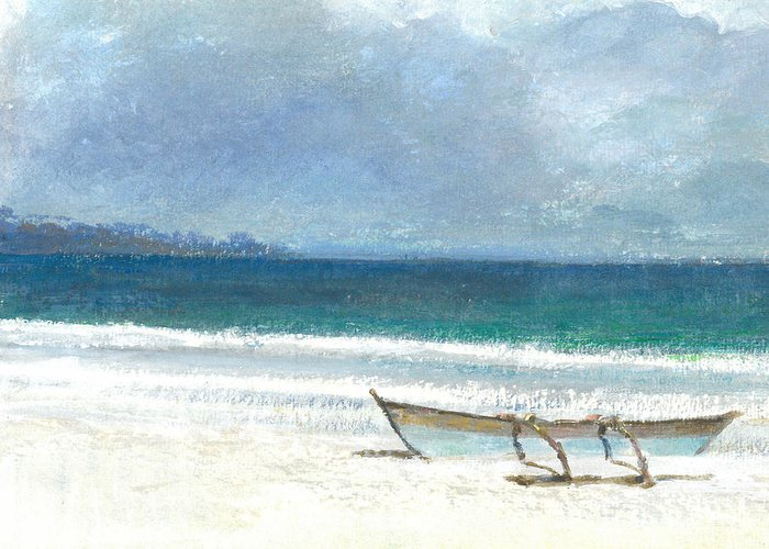 Outrigger Canoe Greeting Cards