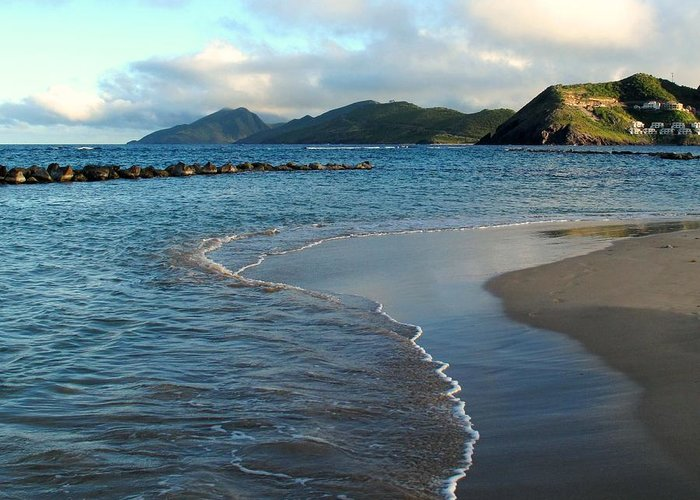 St Kitts Greeting Card featuring the photograph Beach Walk by Ian MacDonald