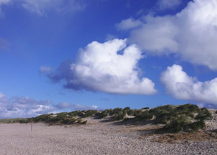 Beach Greeting Card featuring the photograph Beach With Clouds by Sascha Meyer