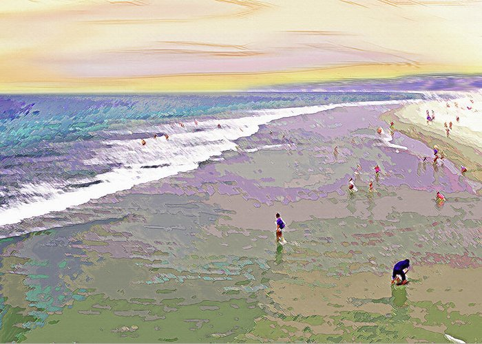 California Greeting Card featuring the photograph Beachgoers 1 by Steve Ohlsen