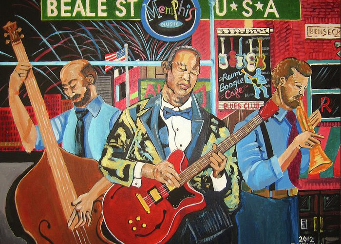 Beale Street Greeting Card featuring the painting Beale Street by John Keaton